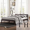 TRIBECCA HOME Haylyn Queen Espresso Platform Bed