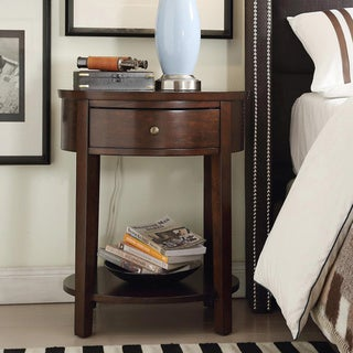 INSPIRE Q Fillmore 1-drawer Oval Wood Shelf Accent End Table
