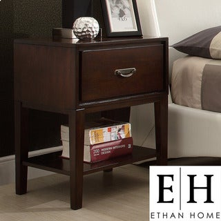 ETHAN HOME Neo Rectangle Espresso Accent Table Nightstand