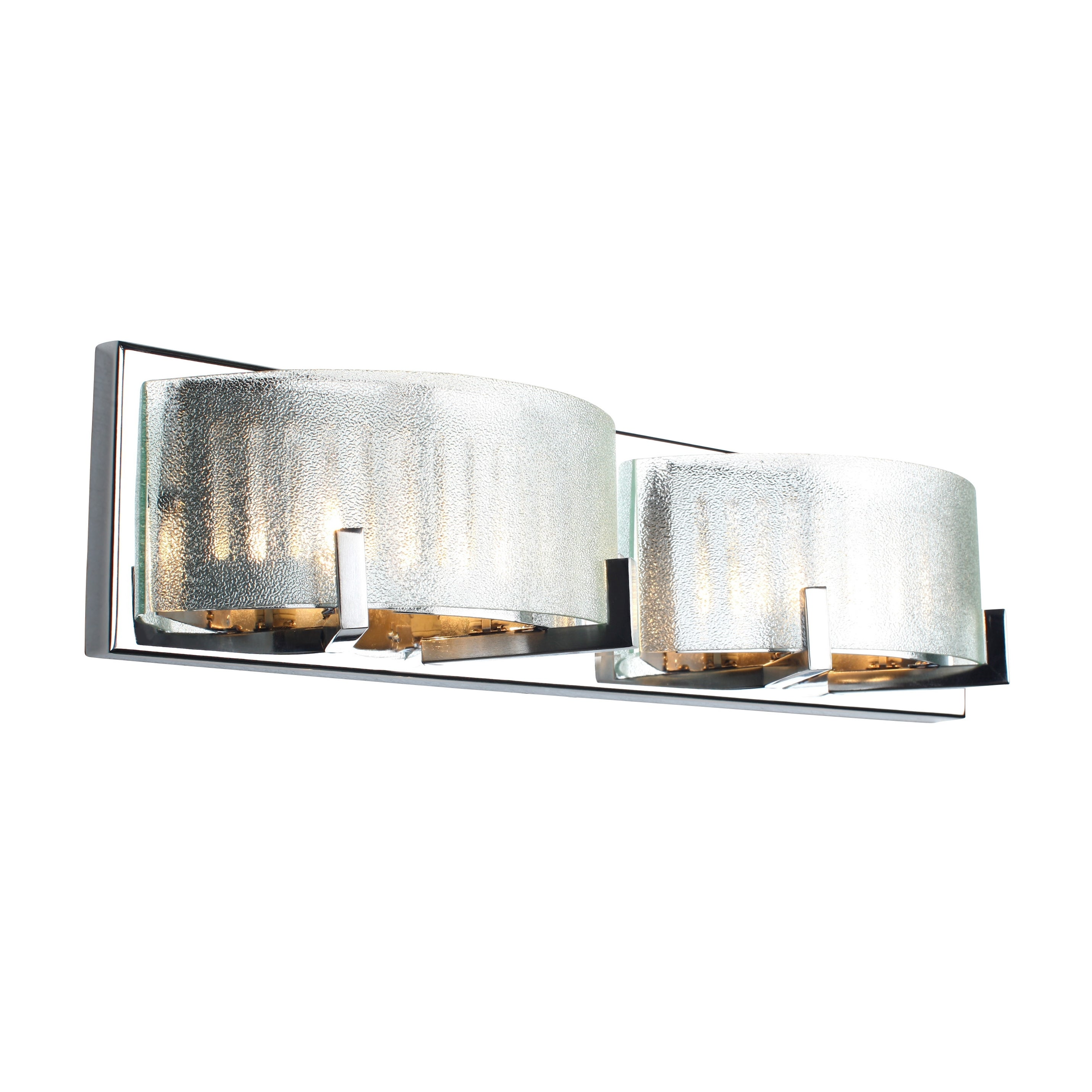 alternating current brilliance 4 light chrome vanity fixture