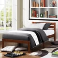 TRIBECCA HOME Haylyn Twin-size Cappuccino Platform Bed