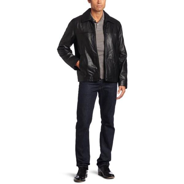 Tommy Hilfiger Men's Black Lamb Leather Jacket
