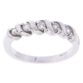 14k White Gold 1/4ct TDW Diamond Twist Ring (G-H, I2-I3)
