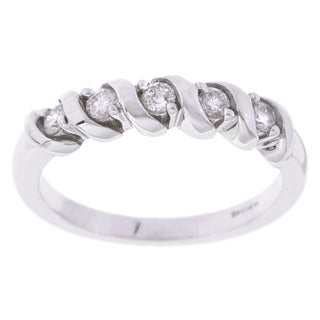 Eloquence 14k White Gold 1/4ct TDW Diamond Twist Ring (G-H, I2-I3)