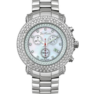 Joe Rodeo Men's 'Junior' 8ct Diamond Watch with Interchangeable Straps