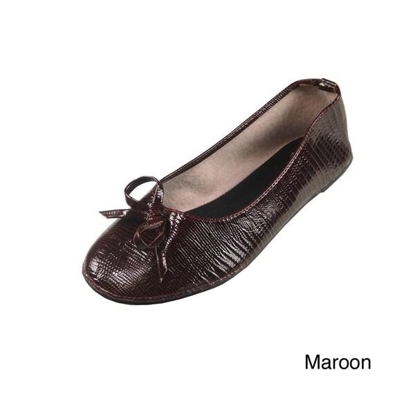 Vecceli Italy Women's Leather Ballet Slippers Flats