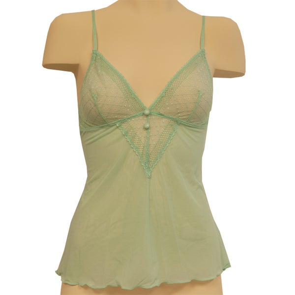 Affinitas Women's Jade Green Melody Camisole