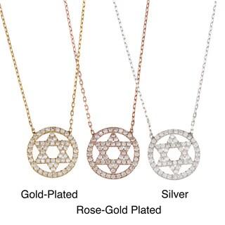 La Preciosa Sterling Silver CZ Star of David Necklace