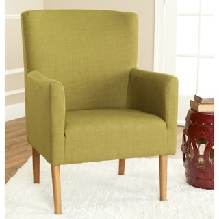 Safavieh Retro Green Linen Blend Club Chair