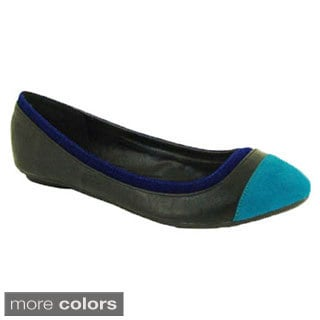 I- Comfort Contrast Ballerina Flats