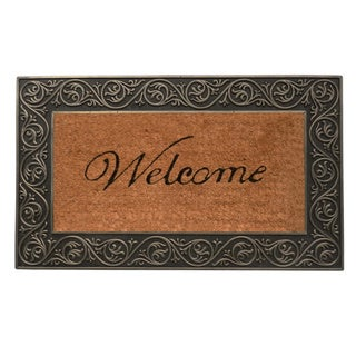 Prestige Silver 18x30-inch Coir and Natural Rubber Door Mat
