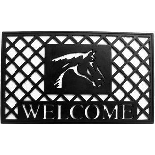 Natural Rubber 18x30-inch Stallion Door Mat