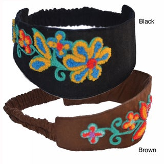 Floral Embroidered Headband (Nepal)