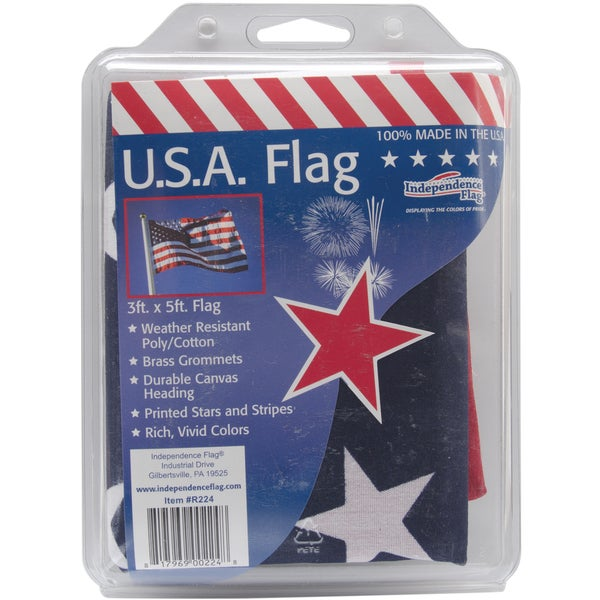 Poly/Cotton US Flag Clamshell 3'x5'