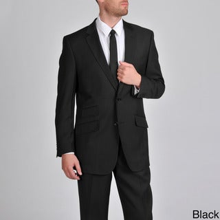 Martin Gordon Men's Single Breasted Suit with Flat Front Pants