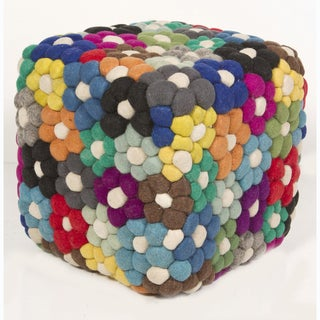 Handmade Indian Wool Pouf