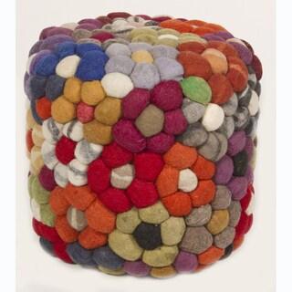 Handmade Wool Pouf