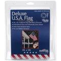 Nylon US Flag (Sewn and Embroidered) 3 x 5 feet