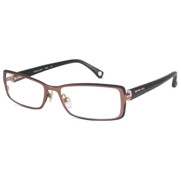 Michael Kors Readers Women's MK306 Brown Rectangular Reading Glasses