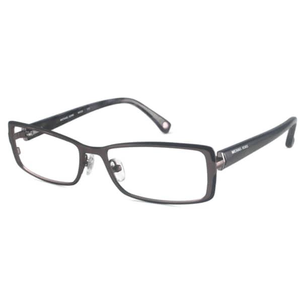 Michael Kors Readers Women's MK306 Gunmetal Rectangular Reading Glasses