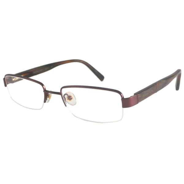 Michael Kors Readers Men's MK484M Brown Rectangular Reading Glasses