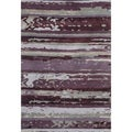Hand-knotted Abstract Amethyst Wool/ Art-silk Rug (8' x 11')