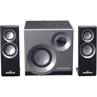 Manhattan USB Speaker System with 2 Satellites & 1 Subwoofer