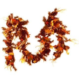 Pre-lit Fall Garland (9 Feet Long)