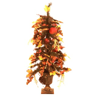 Pre-Lit Potted Fall Tree (3 Feet Tall)