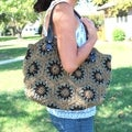 Handmade Yarn Starburst Crochet Handbag (Thailand)