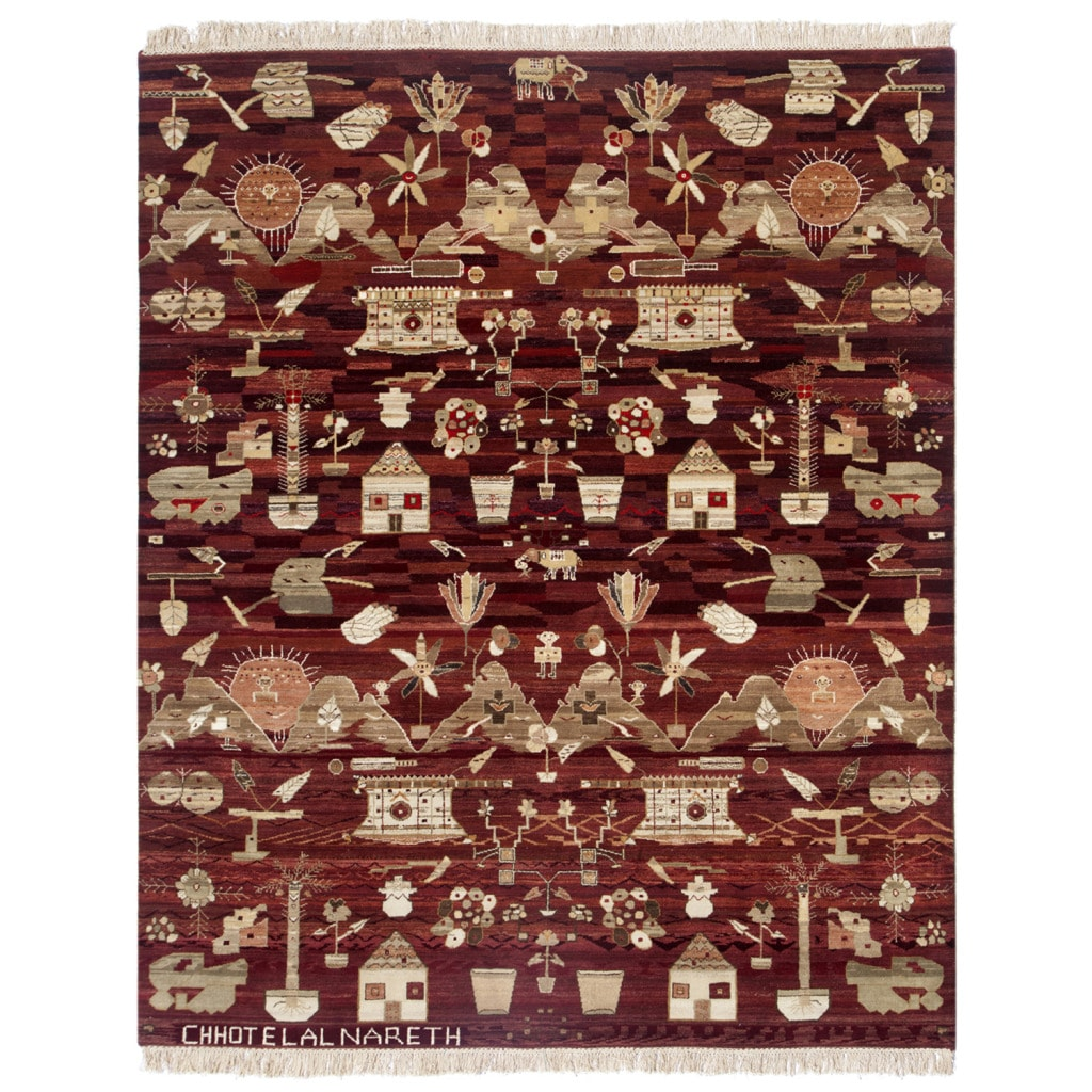 Transitional Hand-Knotted Oriental Mix Wool Rug (8' x 10')