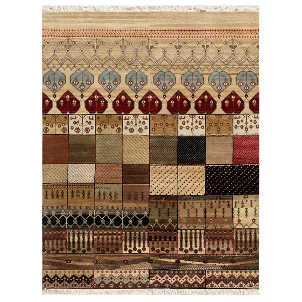 Hand-Knotted Oriental Mix Indoor Wool Rug (8' x 10')