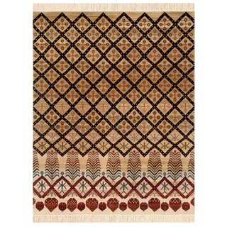 Hand-Knotted Oriental Mix Wool Area Rug (8' x 10')