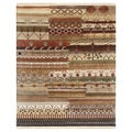 Contemporary Hand-Knotted Abstract Mix Wool Rug (8' x 10')