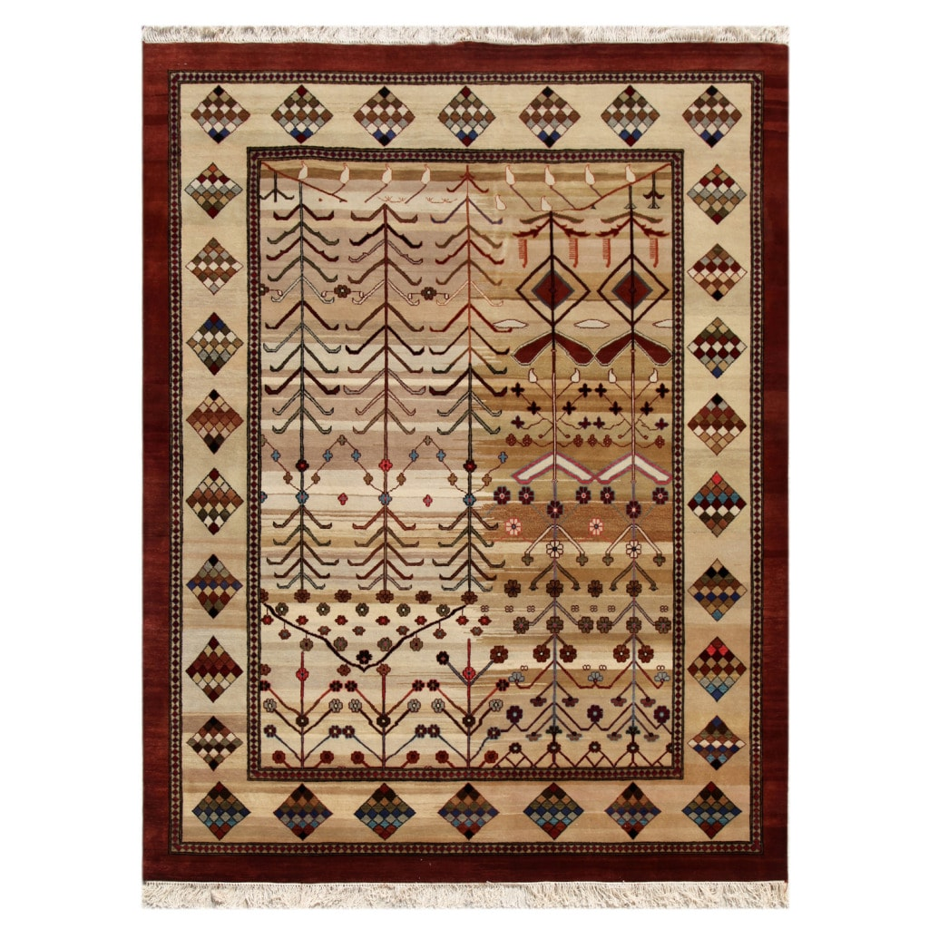 Hand-knotted Traditional Mix Wool Rug (8' x 10')