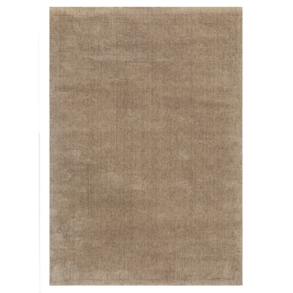 Hand-tufted Solid Lead Gray Wool Rug (5' x 8')
