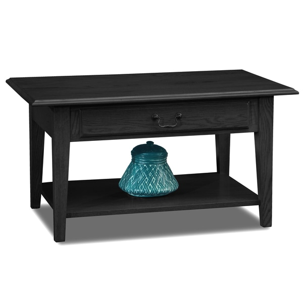 Favorite Finds Solid Oak Drawer Shaker Coffee Table