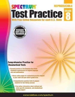 Spectrum Test Practice, Grade 8: Reproducible With Free Online Resources for Each U. S. State (Paperback)