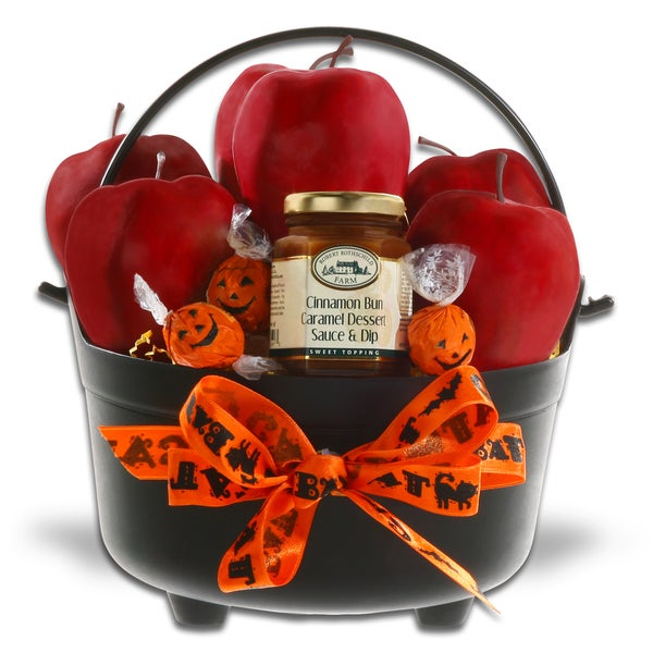 Alder Creek Gift Baskets 'Cauldron of Apples and Caramel Sauce'