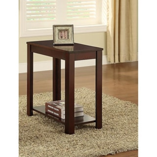 Cappuccino Wooden Chair Side End Table