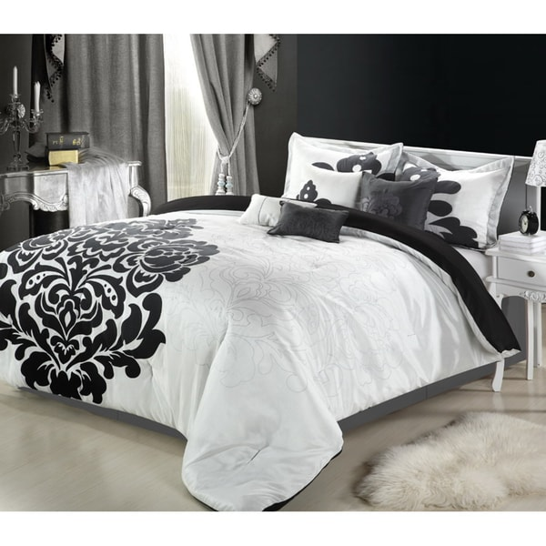 Lakhani 8-Piece Black & White Comforter Set