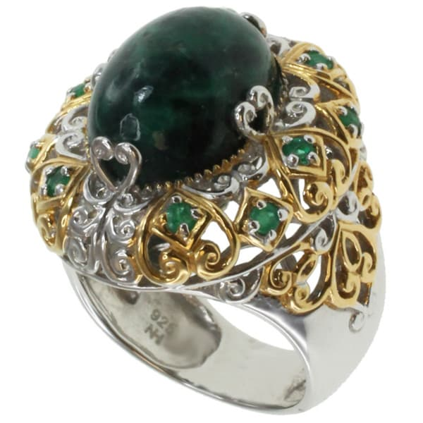 Michael Valitutti Two-tone Emerald Ring