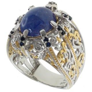 Michael Valitutti Two-tone Tanzanite Ring