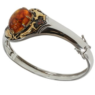 Michael Valitutti Two-tone Amber and Orange Sapphire Bangle