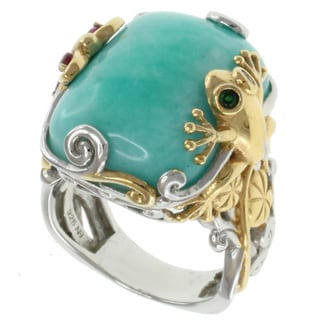Michael Valitutti Two-Tone Amazonite Ring