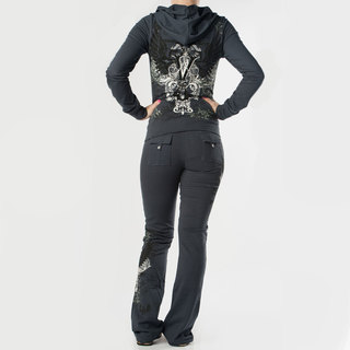 Tabeez Women's 'Victory' French Terry Rhinestone Track Suit