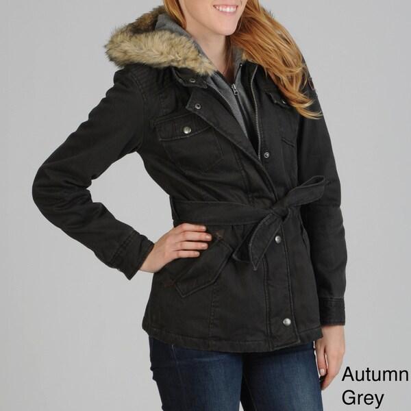 Buffalo Women's Faux Fur Collar Coat