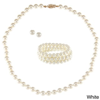 Alexa Starr Faux Pearl 3-piece Jewelry Set