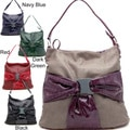 Dasein Buckle Bow Front Hobo Bag