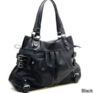 Dasein Side Buckles Tote Bag
